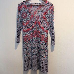 JOEY's Girls V Neck long sleeve dress
